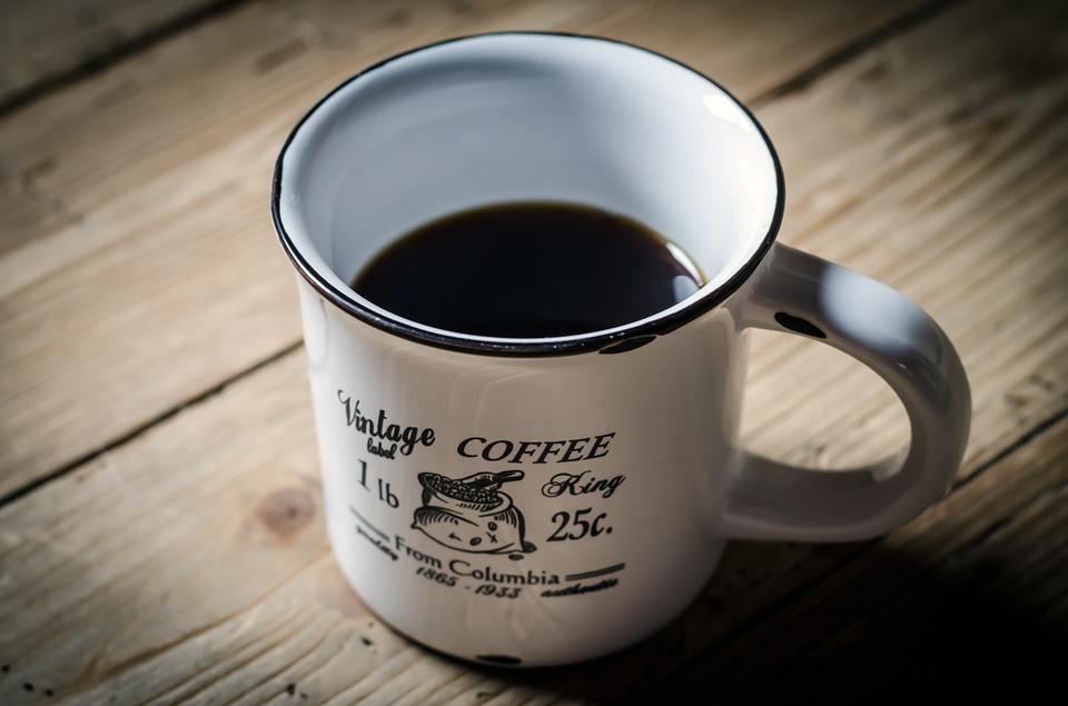 猫よけ前に飲んだコーヒー